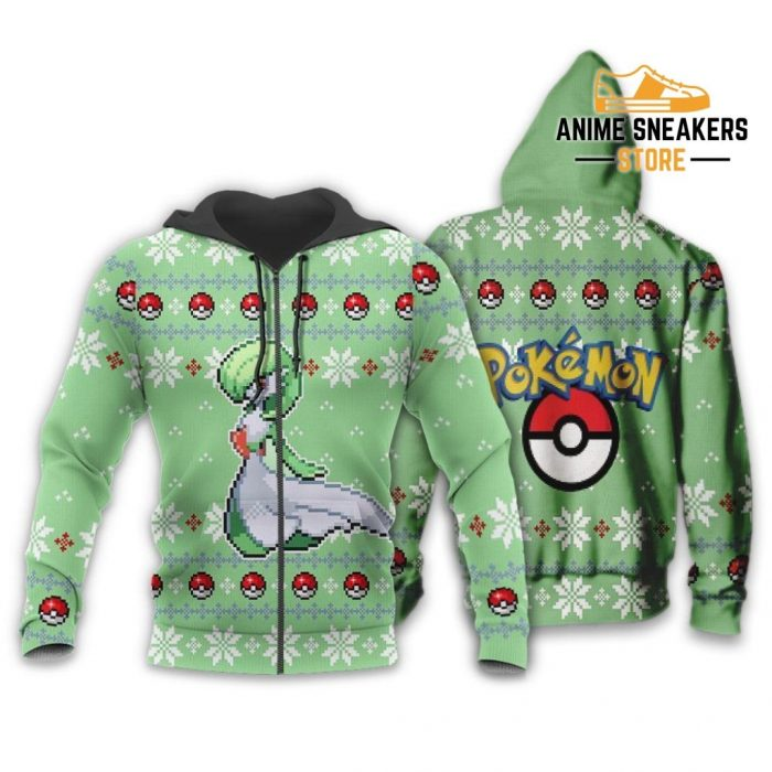 Pokemon Gardevoir Ugly Christmas Sweater Custom Xmas Gift Zip Hoodie / S All Over Printed Shirts