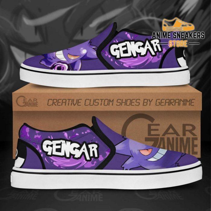 Gengar Slip On Shoes Pokemon Custom Anime Slip-On