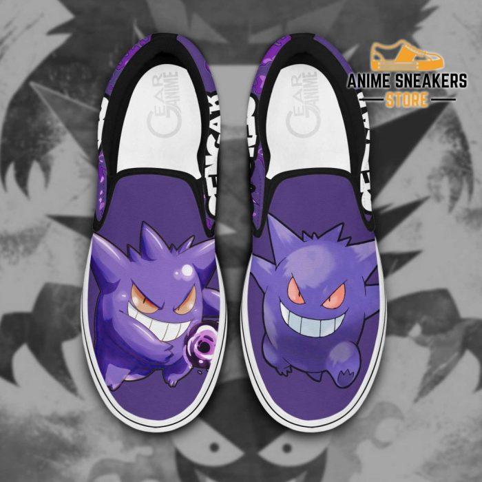 Gengar Slip On Shoes Pokemon Custom Anime Men / Us6 Slip-On