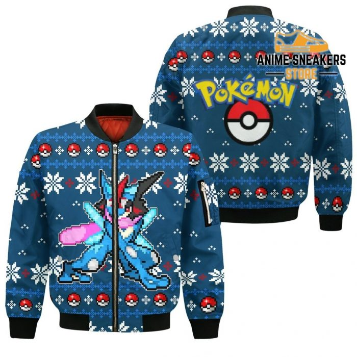 Pokemon Greninja Ugly Christmas Sweater Custom Xmas Gift Bomber Jacket / S All Over Printed Shirts