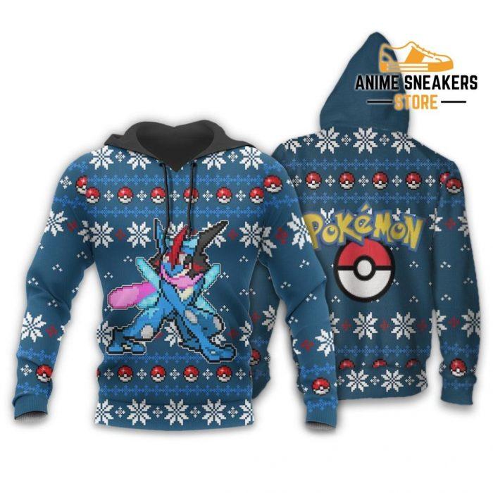 Pokemon Greninja Ugly Christmas Sweater Custom Xmas Gift Hoodie / S All Over Printed Shirts