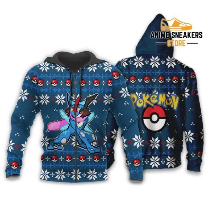Pokemon Greninja Ugly Christmas Sweater Custom Xmas Gift Zip Hoodie / S All Over Printed Shirts