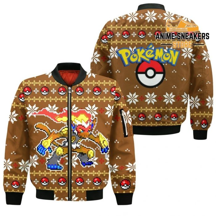 Pokemon Infernape Ugly Christmas Sweater Custom Xmas Gift Bomber Jacket / S All Over Printed Shirts