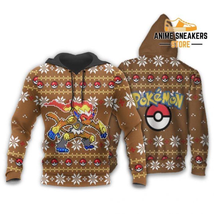Pokemon Infernape Ugly Christmas Sweater Custom Xmas Gift Hoodie / S All Over Printed Shirts
