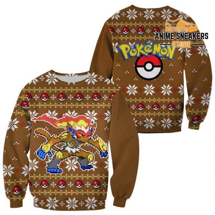 Pokemon Infernape Ugly Christmas Sweater Custom Xmas Gift / S All Over Printed Shirts