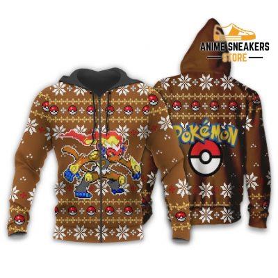 Pokemon Infernape Ugly Christmas Sweater Custom Xmas Gift Zip Hoodie / S All Over Printed Shirts