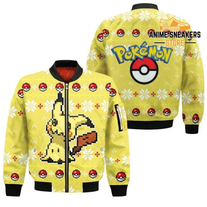 Pokemon Mimikyu Ugly Christmas Sweater Custom Xmas Gift Bomber Jacket / S All Over Printed Shirts