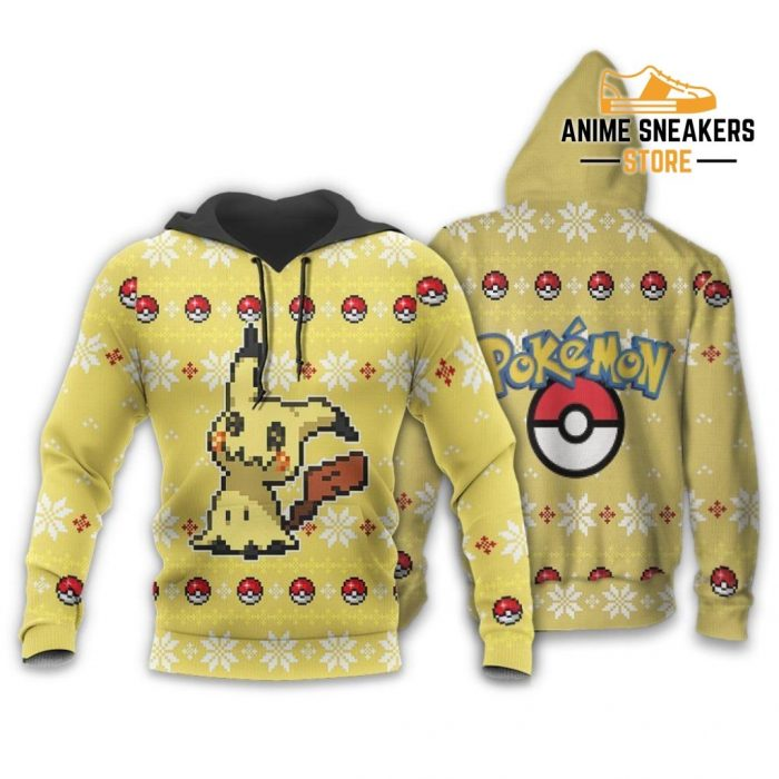 Pokemon Mimikyu Ugly Christmas Sweater Custom Xmas Gift Hoodie / S All Over Printed Shirts