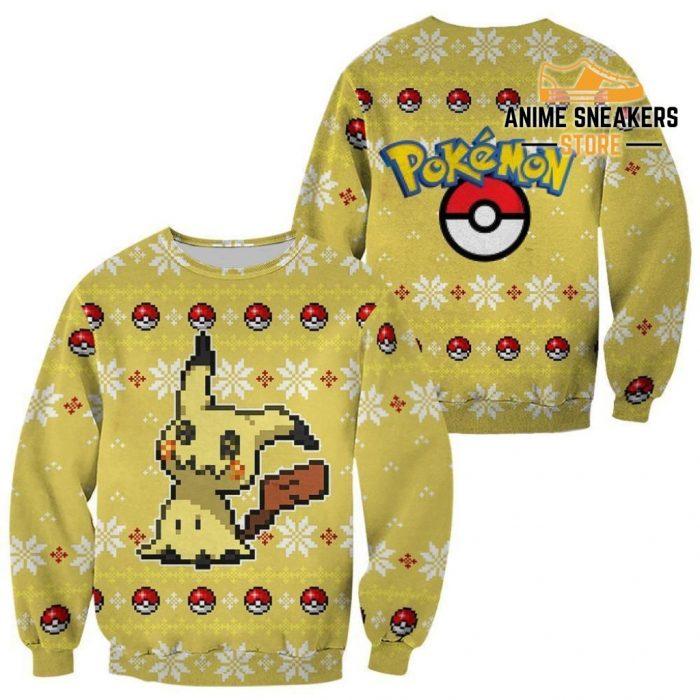 Pokemon Mimikyu Ugly Christmas Sweater Custom Xmas Gift / S All Over Printed Shirts