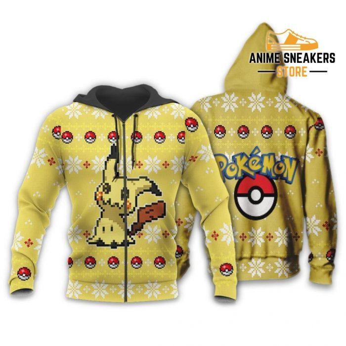 Pokemon Mimikyu Ugly Christmas Sweater Custom Xmas Gift Zip Hoodie / S All Over Printed Shirts