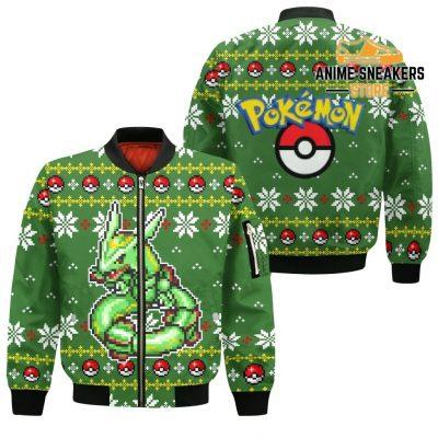 Pokemon Rayquaza Ugly Christmas Sweater Custom Xmas Gift Bomber Jacket / S All Over Printed Shirts