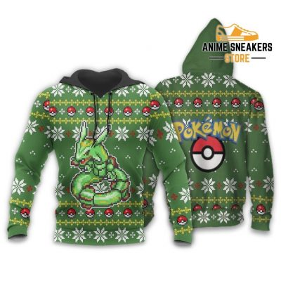 Pokemon Rayquaza Ugly Christmas Sweater Custom Xmas Gift Hoodie / S All Over Printed Shirts