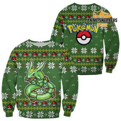 Pokemon Rayquaza Ugly Christmas Sweater Custom Xmas Gift / S All Over Printed Shirts