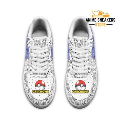 Garchomp Sneakers Pokemon Shoes Fan Gift Idea Pt04 Air Force