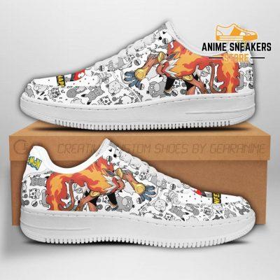 Infernape Sneakers Pokemon Shoes Fan Gift Pt04 Men / Us6.5 Air Force