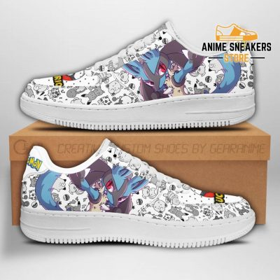 Lucario Sneakers Pokemon Shoes Fan Gift Idea Pt04 Men / Us6.5 Air Force
