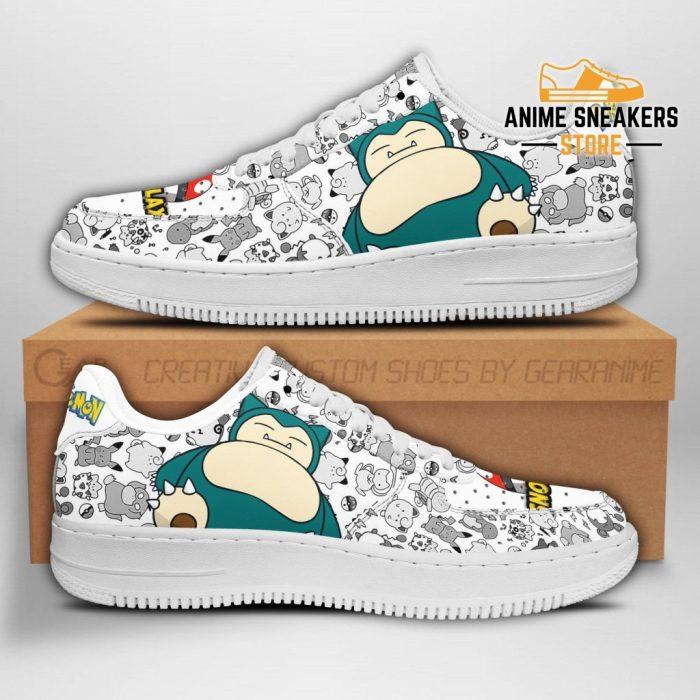 Snorlax Sneakers Pokemon Shoes Fan Gift Pt04 Men / Us6.5 Air Force