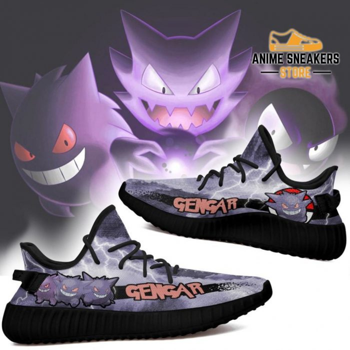 Gengar Yeezy Shoes Pokemon Anime Sneakers Fan Gift Idea Tt04