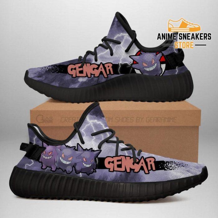 Gengar Yeezy Shoes Pokemon Anime Sneakers Fan Gift Idea Tt04 Men / Us6
