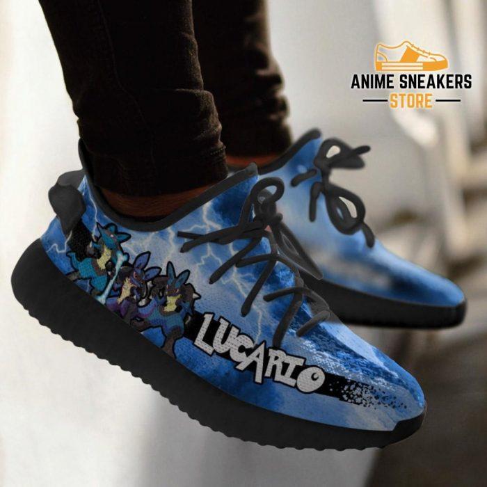 Lucario Yeezy Shoes Pokemon Anime Sneakers Fan Gift Idea Tt04