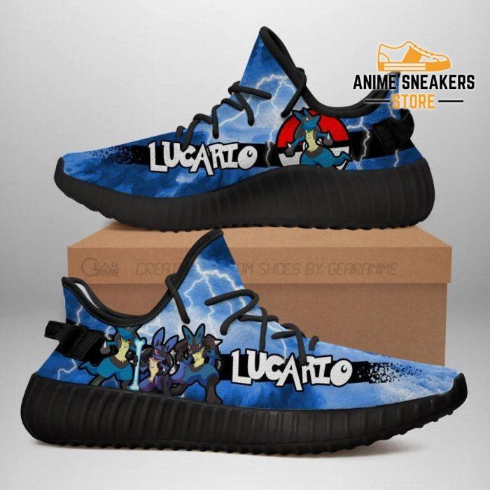 Lucario Yeezy Shoes Pokemon Anime Sneakers Fan Gift Idea Tt04 Men / Us6