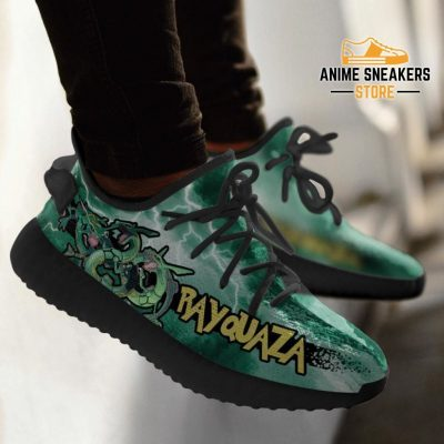 Rayquaza Yeezy Shoes Pokemon Anime Sneakers Fan Gift Idea Tt04