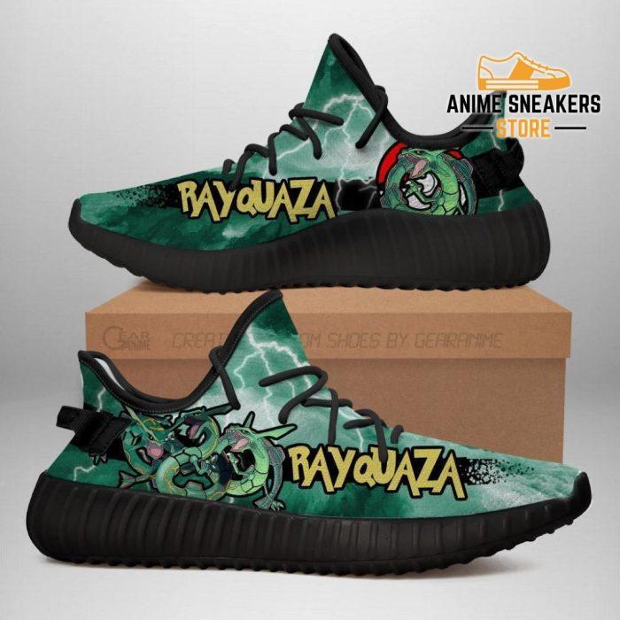 Rayquaza Yeezy Shoes Pokemon Anime Sneakers Fan Gift Idea Tt04 Men / Us6