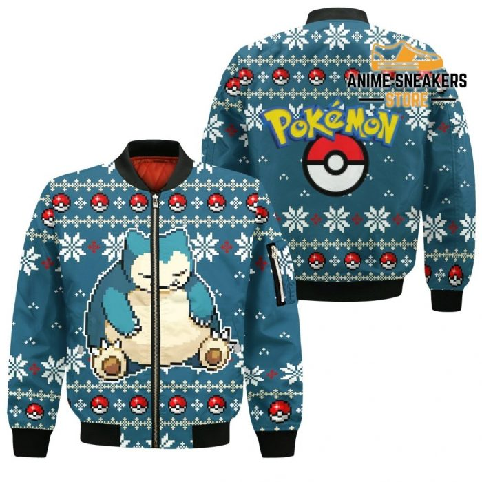 Pokemon Snorlax Ugly Christmas Sweater Custom Xmas Gift Bomber Jacket / S All Over Printed Shirts