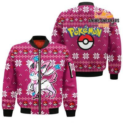 Pokemon Sylveon Ugly Christmas Sweater Custom Xmas Gift Bomber Jacket / S All Over Printed Shirts