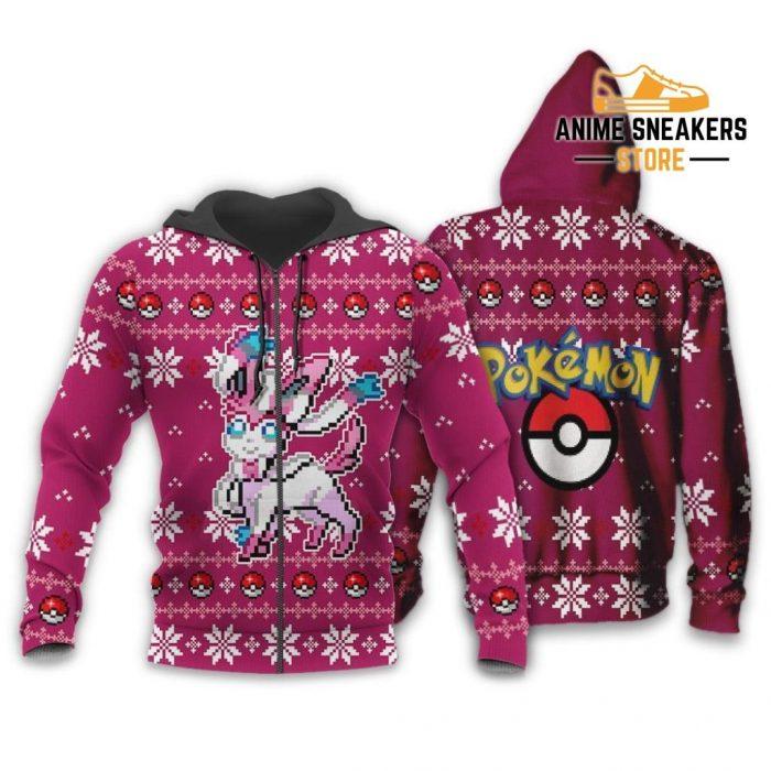 Pokemon Sylveon Ugly Christmas Sweater Custom Xmas Gift Zip Hoodie / S All Over Printed Shirts