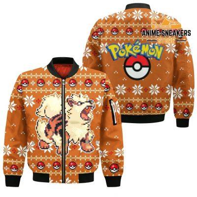 Pokemon Ugly Christmas Sweater Custom Arcanine Xmas Gift Bomber Jacket / S All Over Printed Shirts