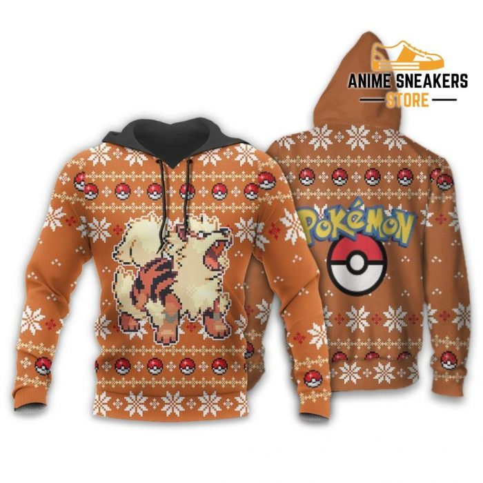 Pokemon Ugly Christmas Sweater Custom Arcanine Xmas Gift Hoodie / S All Over Printed Shirts