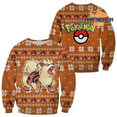 Pokemon Ugly Christmas Sweater Custom Arcanine Xmas Gift / S All Over Printed Shirts