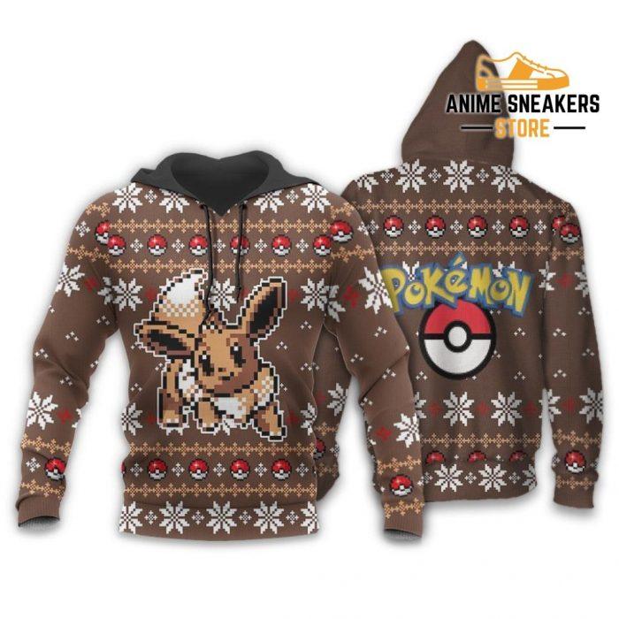 Pokemon Ugly Christmas Sweater Custom Eevee Xmas Gift Hoodie / S All Over Printed Shirts