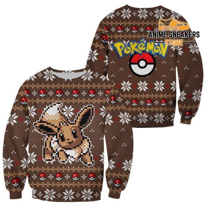 Pokemon Ugly Christmas Sweater Custom Eevee Xmas Gift / S All Over Printed Shirts