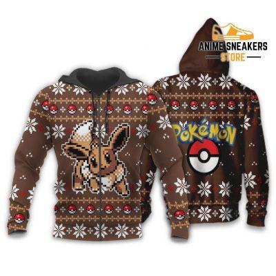 Pokemon Ugly Christmas Sweater Custom Eevee Xmas Gift Zip Hoodie / S All Over Printed Shirts