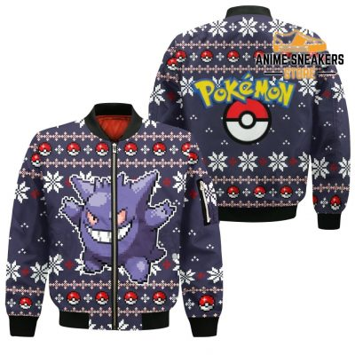 Pokemon Ugly Christmas Sweater Custom Gengar Xmas Gift Bomber Jacket / S All Over Printed Shirts