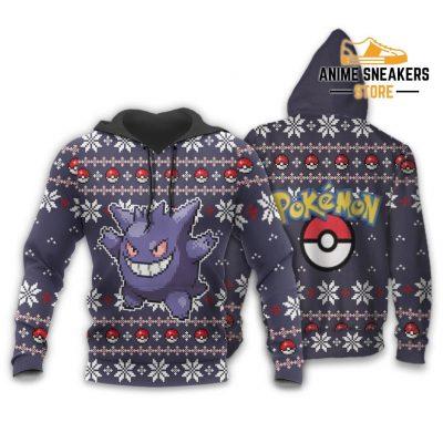 Pokemon Ugly Christmas Sweater Custom Gengar Xmas Gift Hoodie / S All Over Printed Shirts