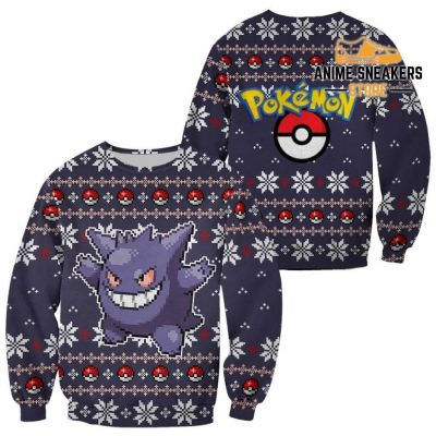 Pokemon Ugly Christmas Sweater Custom Gengar Xmas Gift / S All Over Printed Shirts