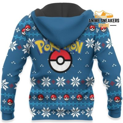 Pokemon Ugly Christmas Sweater Custom Lucario Xmas Gift Clothes All Over Printed Shirts