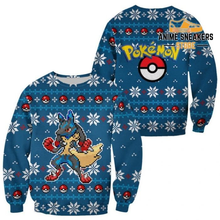 Pokemon Ugly Christmas Sweater Custom Lucario Xmas Gift Clothes / S All Over Printed Shirts
