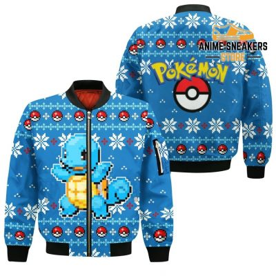Pokemon Ugly Christmas Sweater Custom Squirtle Xmas Gift Bomber Jacket / S All Over Printed Shirts
