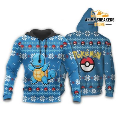 Pokemon Ugly Christmas Sweater Custom Squirtle Xmas Gift Hoodie / S All Over Printed Shirts