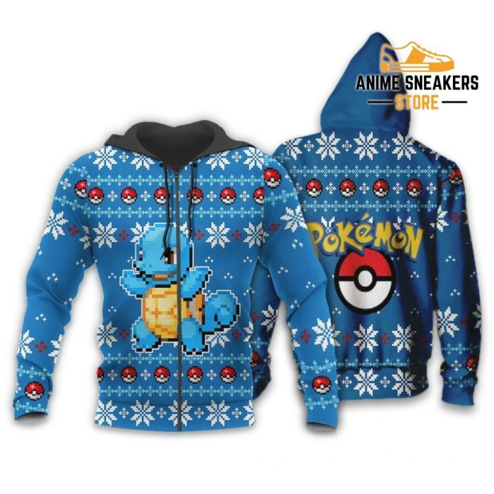Pokemon Ugly Christmas Sweater Custom Squirtle Xmas Gift Zip Hoodie / S All Over Printed Shirts