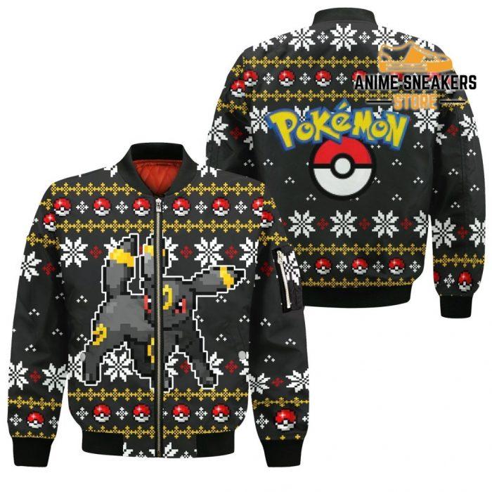 Pokemon Umbreon Ugly Christmas Sweater Custom Xmas Gift Bomber Jacket / S All Over Printed Shirts