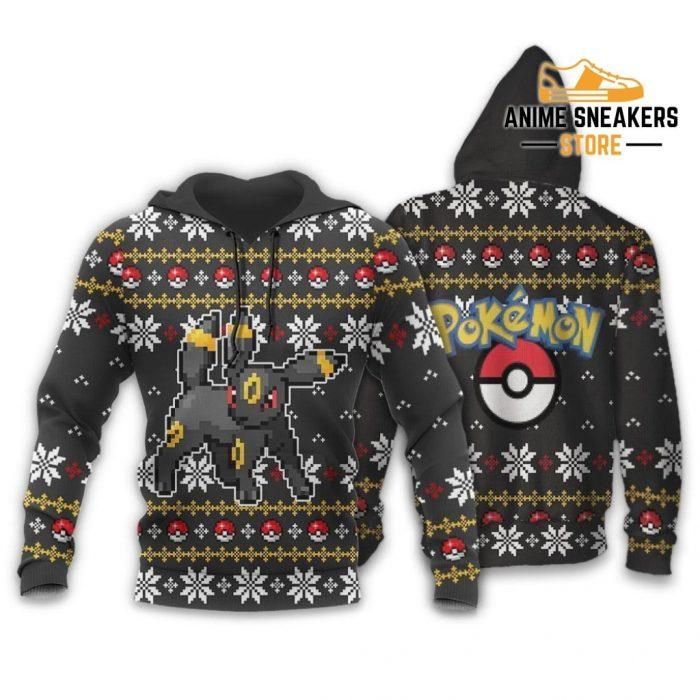 Pokemon Umbreon Ugly Christmas Sweater Custom Xmas Gift Hoodie / S All Over Printed Shirts