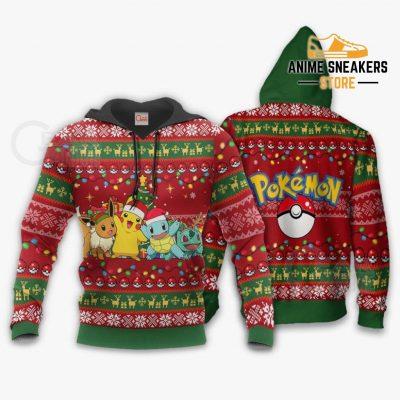 Pokemons Ugly Christmas Sweater Anime Xmas Gift Va11 Hoodie / S All Over Printed Shirts