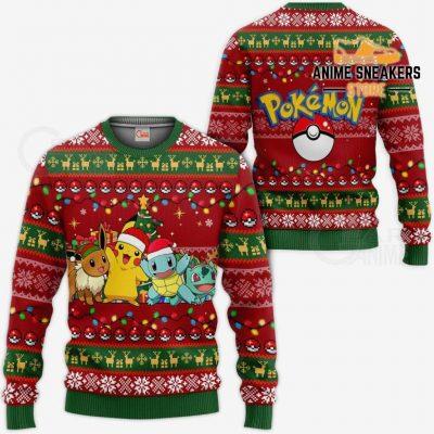Pokemons Ugly Christmas Sweater Anime Xmas Gift Va11 / S All Over Printed Shirts