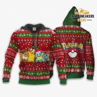 Pokemons Ugly Christmas Sweater Anime Xmas Gift Va11 Zip Hoodie / S All Over Printed Shirts
