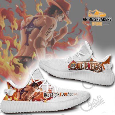 Portgas D Ace Shoes One Piece Custom Anime Tt10 Yeezy